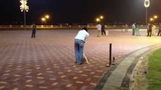 Pakistani night cricket in Saudi Arabia