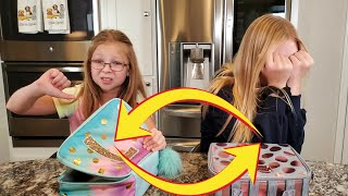Lunch Box Switch Up Challenge!!! **Francesca and Leah**