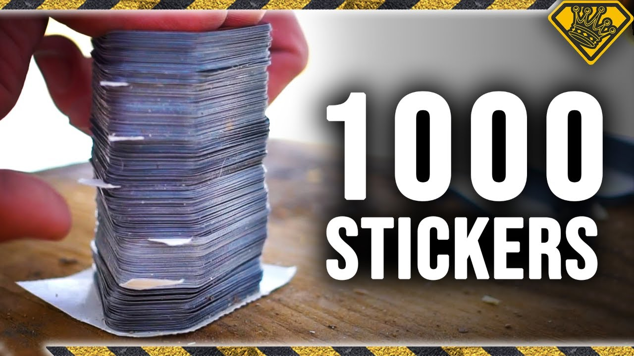 Can 1,000 Stickers Stop a High Powered Projectile?
