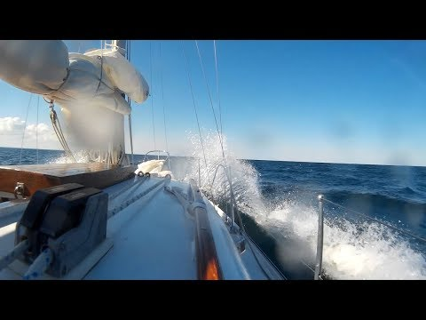"Sailing ""Thanks Dad"" - Lake Michigan sailing trip from Waukegan IL to Racine WI."