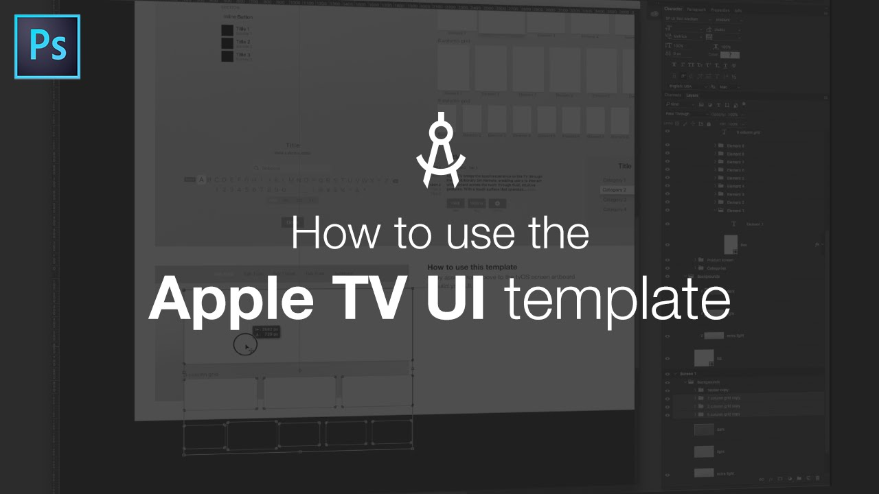 how to use the apple tv ui template youtube