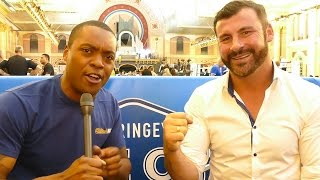 EXCLUSIVE JOE CALZAGHE on FIGHTING CARL FROCH IN A PARKING LOT! & Predicts Upcoming Matches