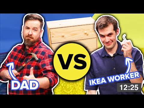IKEA Employees Vs Dads: Furniture Building Challenge