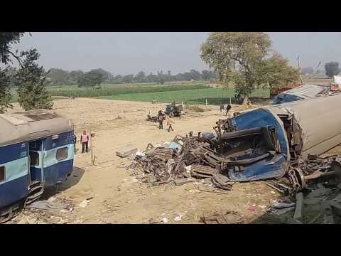 Kanpur train accident live! Indore patna Express.