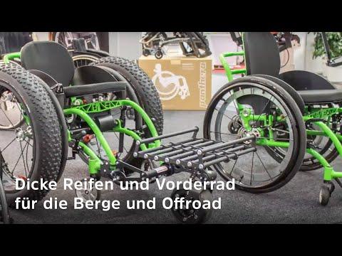 Rollstuhl-Neuheiten von der Messe Integra 2018 - Innovationen (Dynamisches Sitzen, FatWheels, etc.)
