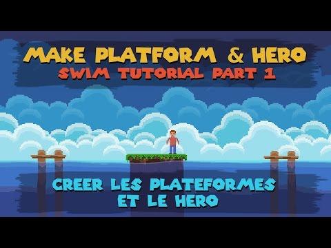 Construct 2 Swim Tutorial #1 : Make the platform & Hero
