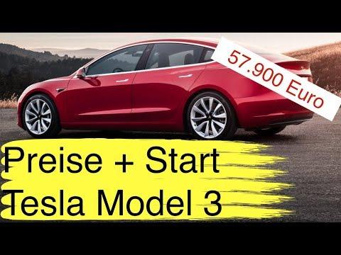 Tesla Model 3 Preis für Deutschland: 57.900 Euro Auslieferung ab Februar 2019