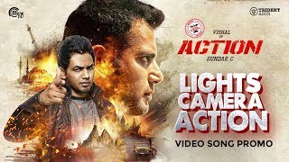 Action - Lights Camera Action Promo Video  Vishal Tamannaah  Hiphop Tamizha  SundarC