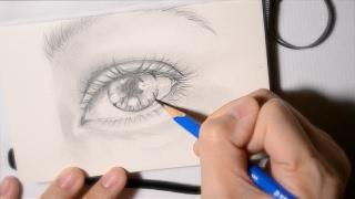 【Sketch】 Eye Sketch 眼睛素描 鉛筆畫 Drawing eye