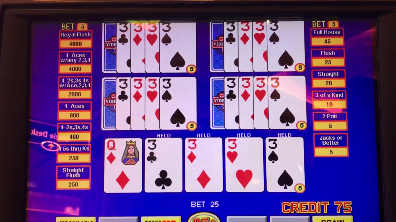 Super Triple Play Video Poker