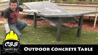 My Outdoor Concrete Table ---- That broke - Was fixed - And broke again.