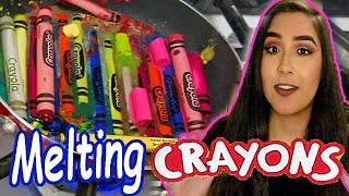 MELTING EVERY CRAYON INTO ONE COLOR