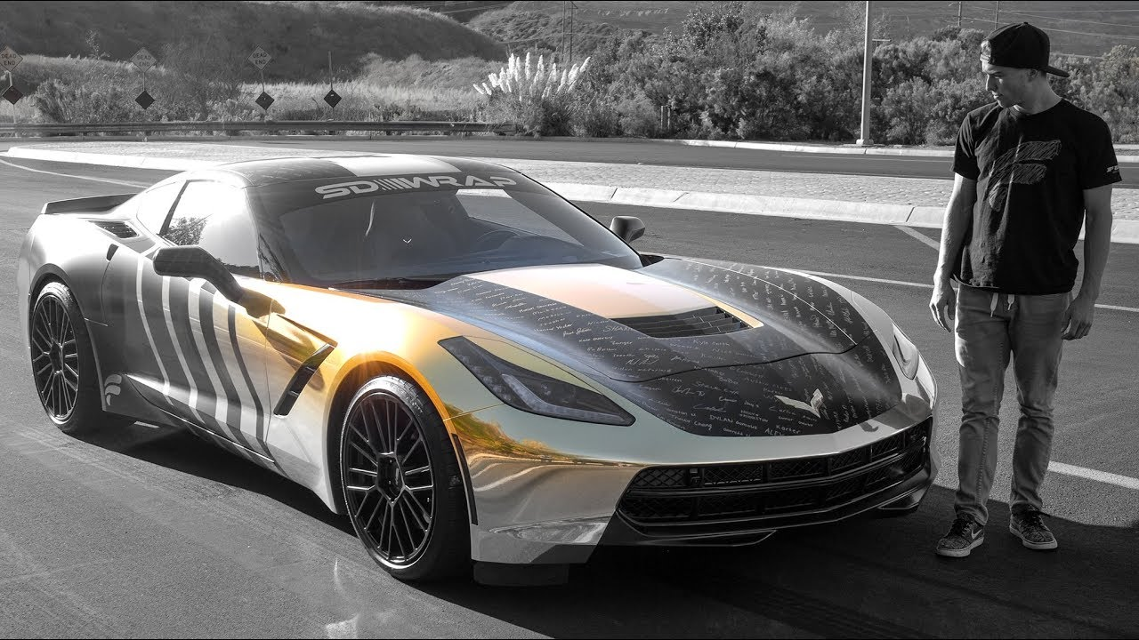 CORVETTE CAR WRAP REVEAL! (one of a kind) - YouTube