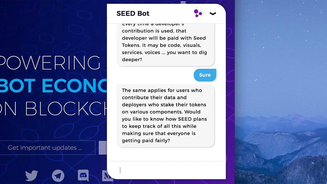 SEED - Powering the bot economy on blockchain