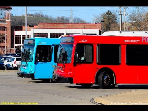 Port authority transit of pittsburgh 2012 new flyer d60lfr 3237 youtube - Pittsburgh port authority ...