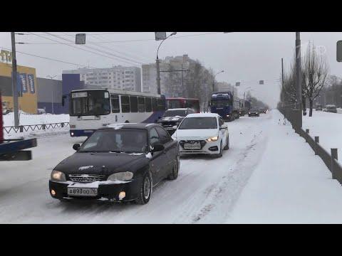 Видео В Ярославле одна из коммунальных организаций допустила снежный коллапс в городе.