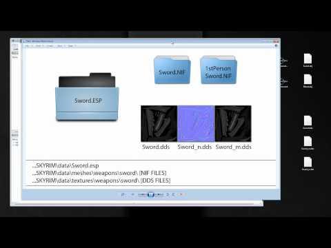 Skyrim Modding Tutorial - Weapon [Model+Textures+Import] part3
