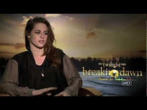 Kristen Stewart talks about working with Rob Pattinson in Twilight Breaking Dawn Part 2