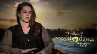 Kristen Stewart talks about working with Rob Pattinson in Twilight Breaking Dawn Part 2