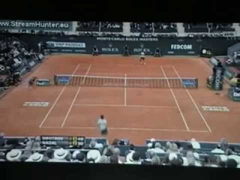Dimitrov vs Nadal Monte Carlo 2013 first and second sets