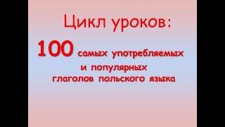 Польский урок. 100 глаголов в спряжении
