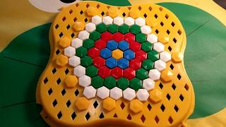 easy MOSAIC for children white YELLOW red GREEN Play and PAINT