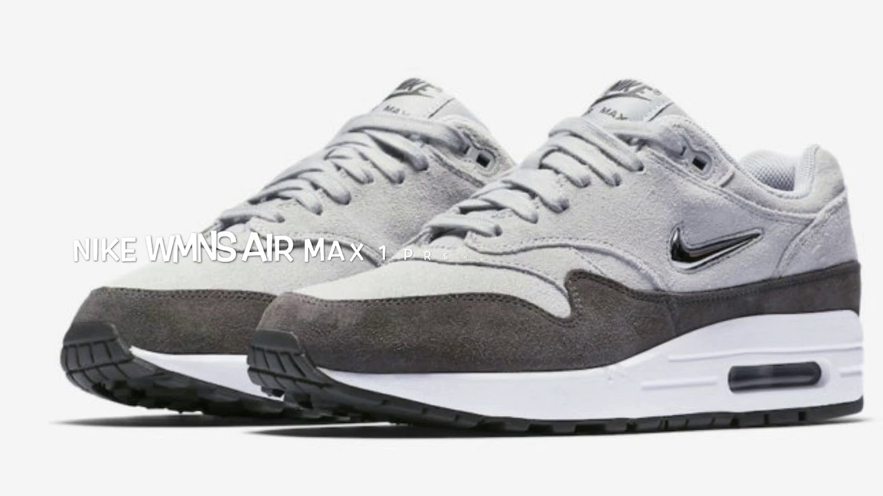 NIKE WMNS AIR MAX 1 PREMIUM JEWEL WOLF GREY REVIEW