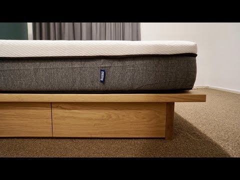 An Oak And Plywood Bed Frame (With An Ecosa Mattress)