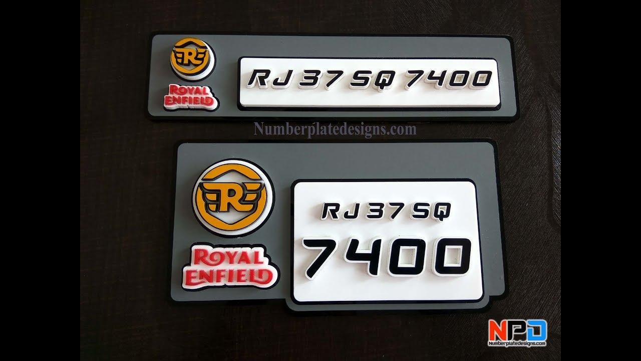 Royal Enfield Number Plate Design Bullet Number Plates