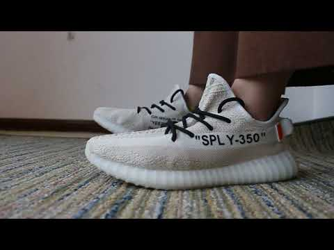 off white yeezy on feet Adidas OFF WHITE x Yeezy Boost 350 V2 On Foot