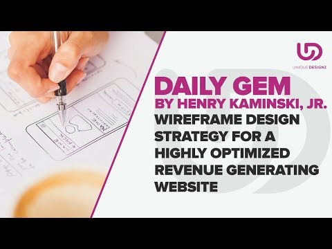 Wireframe Design Strategy For a Highly Optimized Revenue Generating Website