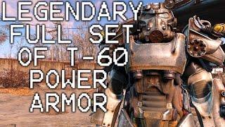 Fallout 4 Full Legendary T60 Power Armor Set