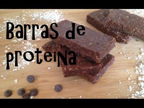 Recetas para aumentar masa muscular - Barras de proteina sabor a chocolate / Protein Bars