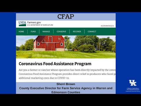 CFAP - Coronavirus Food Assistance Program from YouTube · Duration:  4 minutes 44 seconds