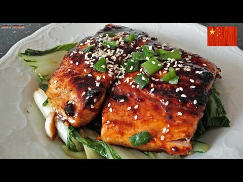 Asian Glazed Salmon with Bok Choy