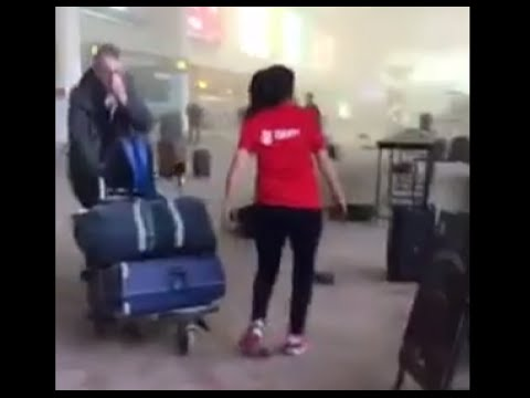 Inside Brussels airport: Shocking footage captures carnage, moments after deadly blasts