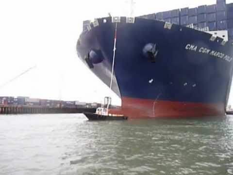 The worlds largest container vessel welcomed to Southampton by South Coast Port Services