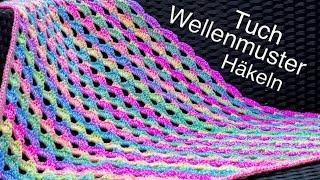 Half Granny Tuch Häkeln Mega Einfach Und Anfänger Geeignet