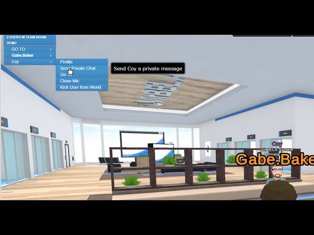 Virbela Team Rooms: Text Chat