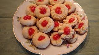 Italian Cherry Butter Cookies  By Diane Love To Bake