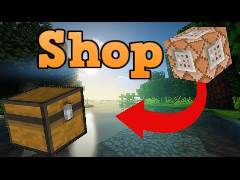 Minecraft Bedrock Edition Shop Command Block Tutorial Creation