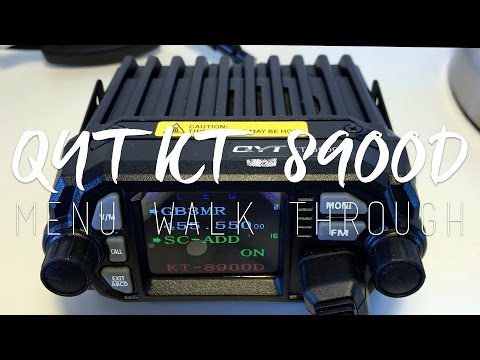 QYT KT-8900D Mini Transceiver | Menu & Function Walkthrough