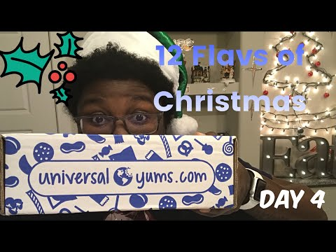 12 Flavs Of Christmas: Universal Yums MUKBANG | Columbia, Australia, England, Jordan and More | ASMR