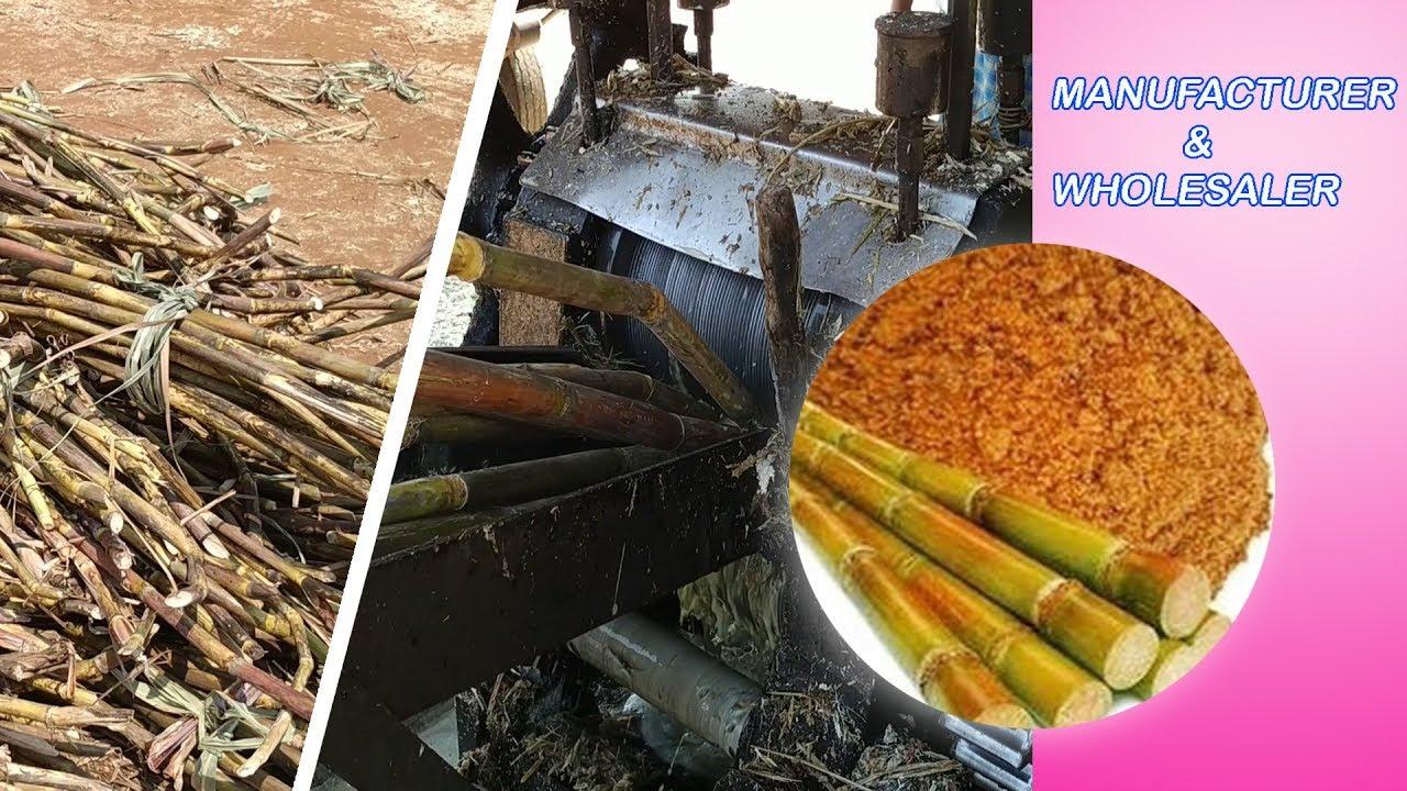 how to make Nattu Sarkarai | Pure Brown Sugar Manufacturing | Organic  jaggery powder| country sugar