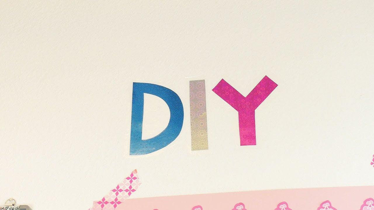 DIY Wandtattoo Mit Glitzerbuchstaben | Schnell U0026 Einfach | Tolle Deko Idee  Für Zuhause | Trend. DIY Inspiration   Kreative Ideen Zum Selbermachen