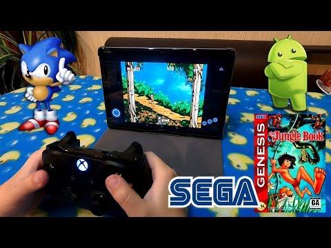Как играть в Sega Сегу на телефоне или планшете Android на безпроводном геймпаде