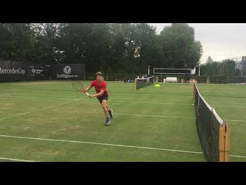 Denis Shapovalov practice 2019 Volley and attack