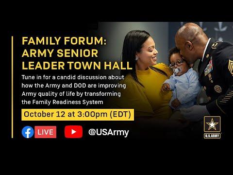 Family Forum: Senior Leader Town Hall