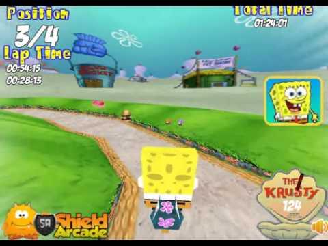 Бесплатные игры онлайн  Подводный мотоцикл Губки Боба 3Д, Спанч Боб игра для детей