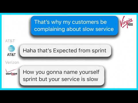 If Cell Phone Services Had A Group Chat (Verizon, Sprint, T-Mobile, AT&T, Metro PCS, & More)